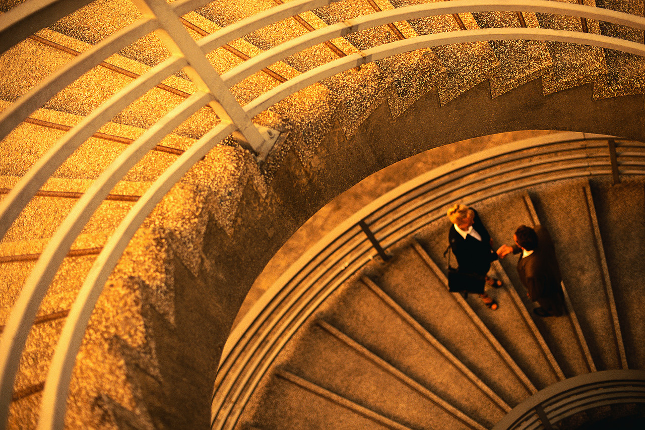 Business People Meeting on Stairs