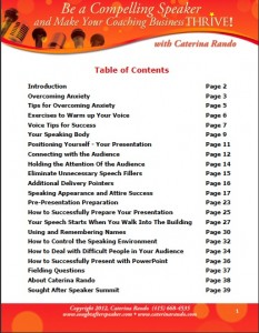 Table of Contents - Compelling Speaker