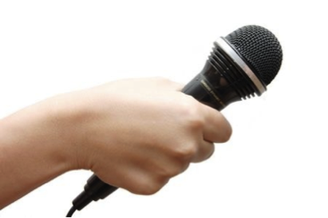 hand with mic-sm